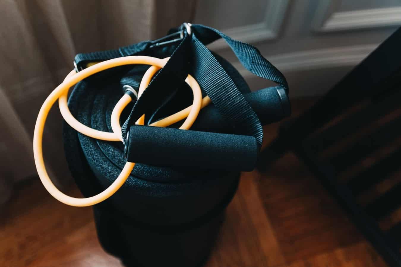 Resistance Bands On Top Of Bag